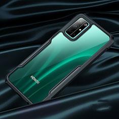 Cover Silicone Trasparente Specchio Laterale per Huawei Honor 30S Nero