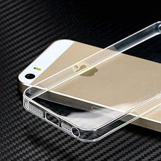 Cover Silicone Trasparente Ultra Slim Morbida HT01 per Apple iPhone 5S Chiaro