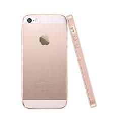 Cover Silicone Trasparente Ultra Slim Morbida per Apple iPhone 5S Rosa