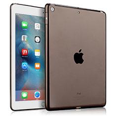 Cover Silicone Trasparente Ultra Slim Morbida per Apple New iPad 9.7 (2017) Grigio