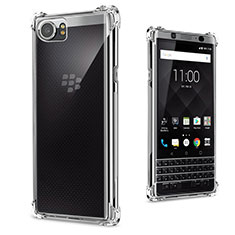 Cover Silicone Trasparente Ultra Slim Morbida per Blackberry KEYone Chiaro