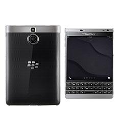 Cover Silicone Trasparente Ultra Slim Morbida per Blackberry Passport Silver Edition Chiaro