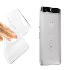 Cover Silicone Trasparente Ultra Slim Morbida per Google Nexus 6P Chiaro