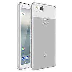 Cover Silicone Trasparente Ultra Slim Morbida per Google Pixel 2 Chiaro