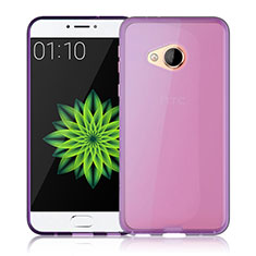 Cover Silicone Trasparente Ultra Slim Morbida per HTC U Play Rosa