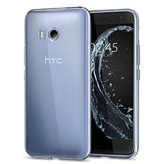 Cover Silicone Trasparente Ultra Slim Morbida per HTC U11 Chiaro