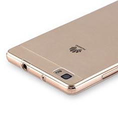 Cover Silicone Trasparente Ultra Slim Morbida per Huawei P8 Lite Chiaro