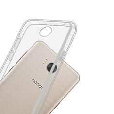 Cover Silicone Trasparente Ultra Slim Morbida per Huawei Y6 (2017) Chiaro