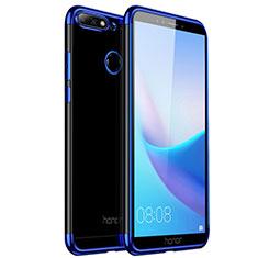 Cover Silicone Trasparente Ultra Slim Morbida per Huawei Y6 (2018) Blu