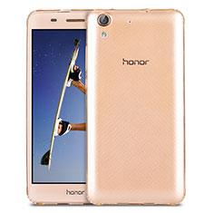 Cover Silicone Trasparente Ultra Slim Morbida per Huawei Y6 II 5.5 Oro