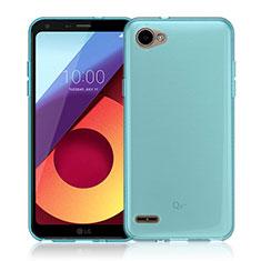 Cover Silicone Trasparente Ultra Slim Morbida per LG Q6 Blu