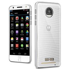 Cover Silicone Trasparente Ultra Slim Morbida per Motorola Moto Z Chiaro