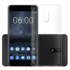 Cover Silicone Trasparente Ultra Slim Morbida per Nokia 6 Chiaro