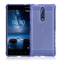Cover Silicone Trasparente Ultra Slim Morbida per Nokia 8 Chiaro