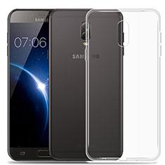 Cover Silicone Trasparente Ultra Slim Morbida per Samsung Galaxy J7 Plus Chiaro