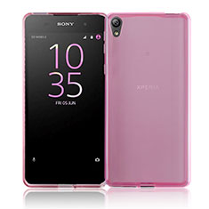 Cover Silicone Trasparente Ultra Slim Morbida per Sony Xperia E5 Rosa