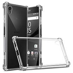 Cover Silicone Trasparente Ultra Slim Morbida per Sony Xperia XA1 Plus Chiaro
