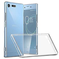 Cover Silicone Trasparente Ultra Slim Morbida per Sony Xperia XZ Premium Chiaro