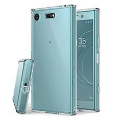 Cover Silicone Trasparente Ultra Slim Morbida per Sony Xperia XZ1 Compact Chiaro