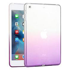 Cover Silicone Trasparente Ultra Slim Morbida Sfumato per Apple iPad Mini 2 Viola