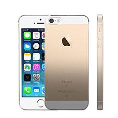 Cover Silicone Trasparente Ultra Slim Morbida Sfumato per Apple iPhone SE Grigio