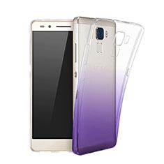 Cover Silicone Trasparente Ultra Slim Morbida Sfumato per Huawei GR5 Mini Viola