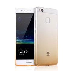 Cover Silicone Trasparente Ultra Slim Morbida Sfumato per Huawei P9 Lite Giallo