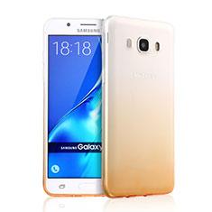 Cover Silicone Trasparente Ultra Slim Morbida Sfumato per Samsung Galaxy J5 Duos (2016) Giallo