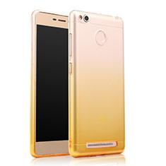Cover Silicone Trasparente Ultra Slim Morbida Sfumato per Xiaomi Redmi 3 Pro Giallo