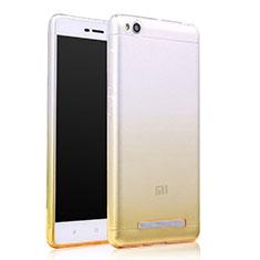 Cover Silicone Trasparente Ultra Slim Morbida Sfumato per Xiaomi Redmi 4A Giallo
