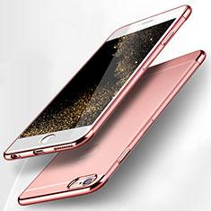 Cover Silicone Trasparente Ultra Sottile Morbida H09 per Apple iPhone 6S Plus Rosa