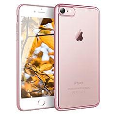 Cover Silicone Trasparente Ultra Sottile Morbida H11 per Apple iPhone 7 Oro Rosa