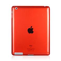 Cover Silicone Trasparente Ultra Sottile Morbida per Apple iPad 2 Rosso