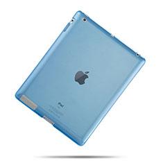 Cover Silicone Trasparente Ultra Sottile Morbida per Apple iPad 3 Cielo Blu