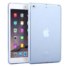 Cover Silicone Trasparente Ultra Sottile Morbida per Apple iPad Mini 3 Cielo Blu