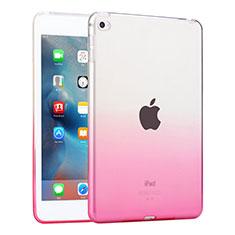 Cover Silicone Trasparente Ultra Sottile Morbida per Apple iPad Mini 4 Rosa