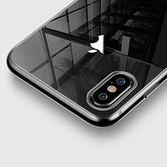 Cover Silicone Trasparente Ultra Sottile Morbida per Apple iPhone X Grigio