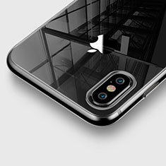 Cover Silicone Trasparente Ultra Sottile Morbida per Apple iPhone Xs Max Grigio