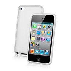 Cover Silicone Trasparente Ultra Sottile Morbida per Apple iPod Touch 4 Bianco