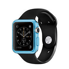 Cover Silicone Trasparente Ultra Sottile Morbida per Apple iWatch 42mm Blu