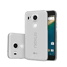 Cover Silicone Trasparente Ultra Sottile Morbida per Google Nexus 5X Grigio