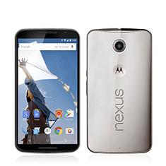 Cover Silicone Trasparente Ultra Sottile Morbida per Google Nexus 6 Grigio