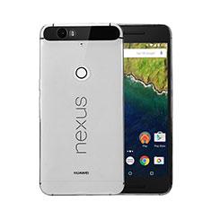Cover Silicone Trasparente Ultra Sottile Morbida per Google Nexus 6P Grigio