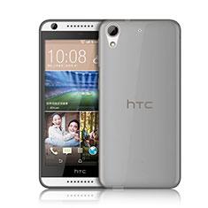 Cover Silicone Trasparente Ultra Sottile Morbida per HTC Desire 626 Grigio