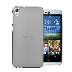 Cover Silicone Trasparente Ultra Sottile Morbida per HTC Desire 826 826T 826W Grigio