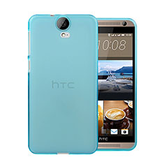 Cover Silicone Trasparente Ultra Sottile Morbida per HTC One E9 Plus Blu