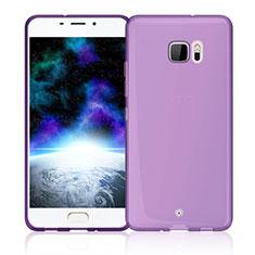Cover Silicone Trasparente Ultra Sottile Morbida per HTC U Ultra Rosa