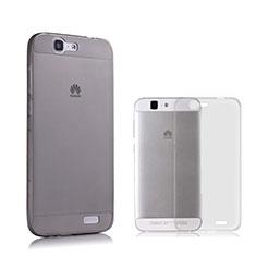 Cover Silicone Trasparente Ultra Sottile Morbida per Huawei Ascend G7 Grigio