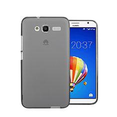 Cover Silicone Trasparente Ultra Sottile Morbida per Huawei Ascend GX1 Grigio