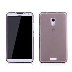 Cover Silicone Trasparente Ultra Sottile Morbida per Huawei Ascend Mate 2 Grigio